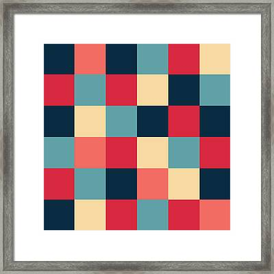 Framed Print featuring the digital art Artwork Pattern by Mike Taylor