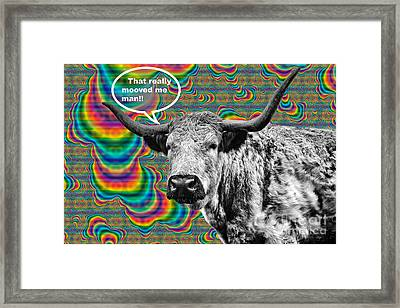 Arty Coo Really Mooved Framed Print