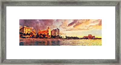 Aruba Beach Painted Framed Print