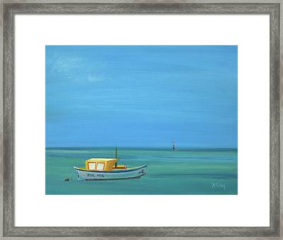 Framed Print featuring the painting Aruba by Donna Tuten