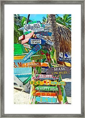 Aruba Fun Signs Framed Print