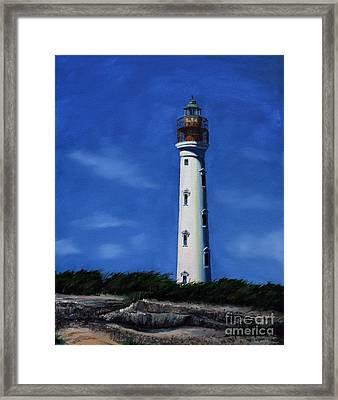 Aruba Light House Framed Print by Paul Walsh