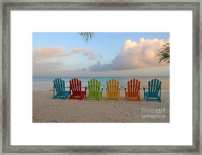 Aruba Sunrise 0746a Framed Print
