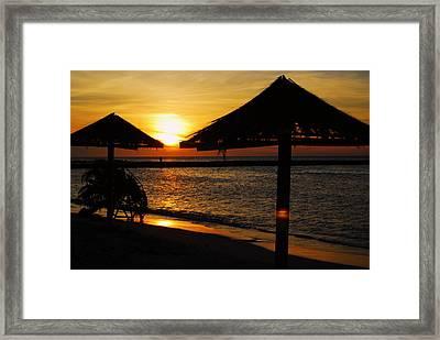 Aruba Sunset Framed Print