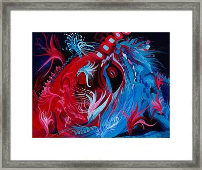 As A Beating Heart Framed Print
