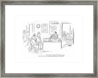 As A Matter Of Fact Framed Print