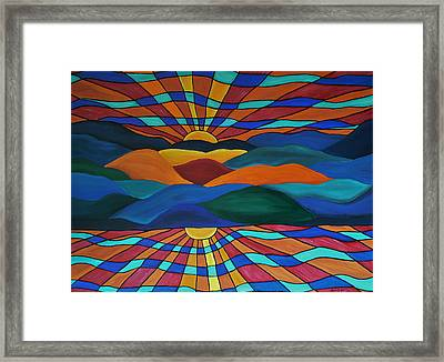 As Above So Below Framed Print by Barbara St Jean