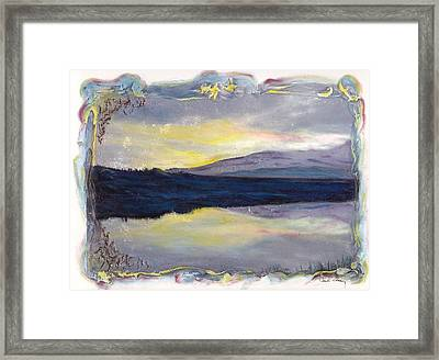Framed Print featuring the mixed media As Above So Below by Carla Woody