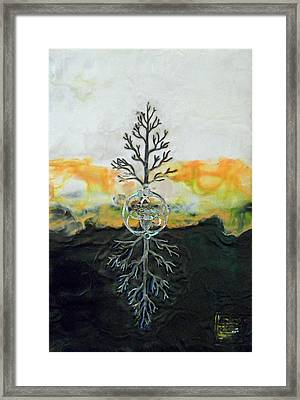 As Above So  Below Framed Print by Sally Clark
