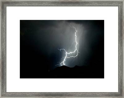 As Dark As The Night Framed Print