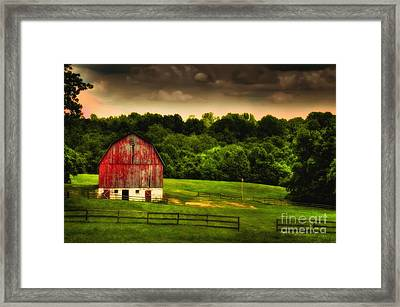 As Darkness Falls Framed Print by Lois Bryan