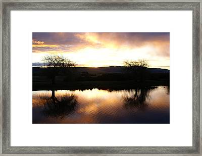 As Day Meets Dusk Framed Print by Judy Powell