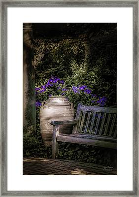 As Evening Falls Framed Print by Julie Palencia