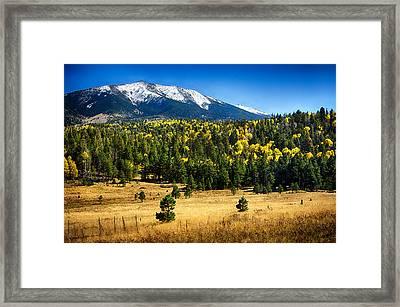As Fall Arrives In Arizona  Framed Print