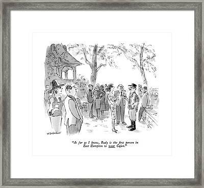 As Far As I Know Framed Print by James Stevenson