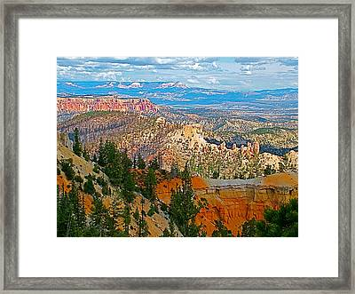 As Far As The Eye Can See From Farview Point In Bryce Canyon-utah   Framed Print