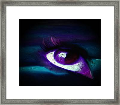 Framed Print featuring the painting As Far As The Eye Can See by Persephone Artworks