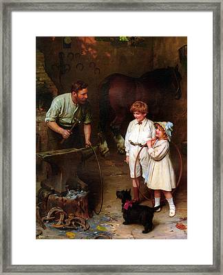 As Good As Ever Framed Print by Arthur John Elsley