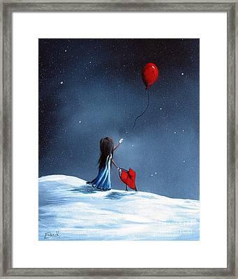 As Her Heart Breaks By Shawna Erback Framed Print