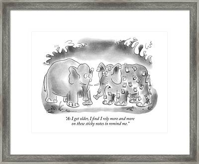 As I Get Older Framed Print by Arnie Levin