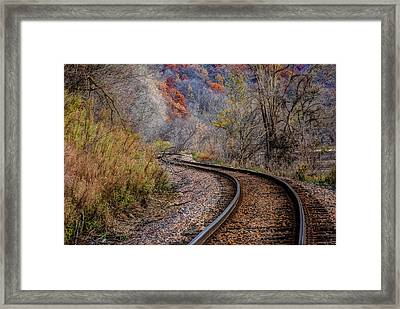 As I Walk The Tracks I Think Framed Print
