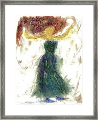 Framed Print featuring the painting as if Dancing in Heaven by Lesley Fletcher