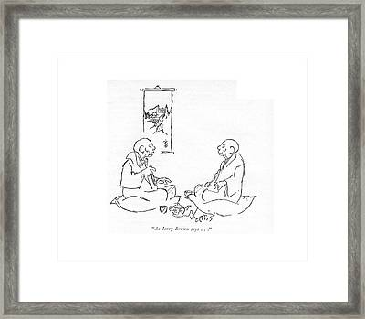 As Jerry Brown Says Framed Print