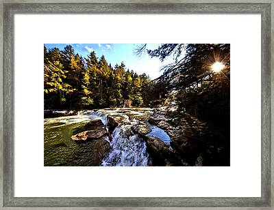 As Lawrence Welk Used To Say-ah Waterfall Waterfall Framed Print