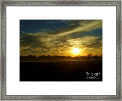 As Mist Rises IIi Framed Print