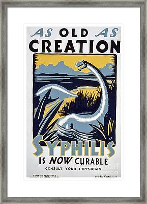As Old As Creation - Vintage Wpa Poster Framed Print