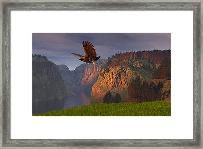 As Once Beheld Framed Print by Dieter Carlton