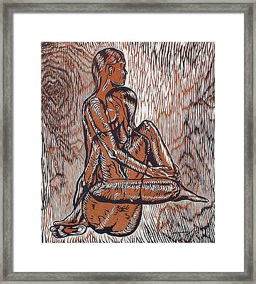 As One Framed Print by Maria Arango Diener