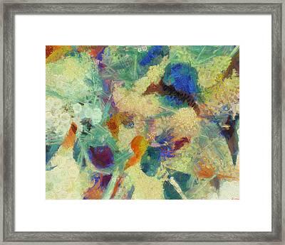 Framed Print featuring the painting As Our Eyes Met by Joe Misrasi