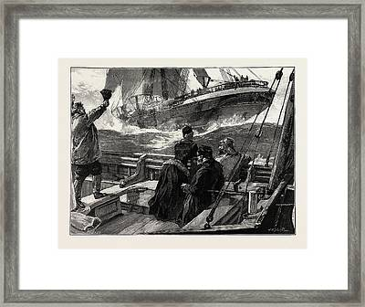 As The Clipper Stormed Framed Print by Overend, William Heysham (1851-1898), British