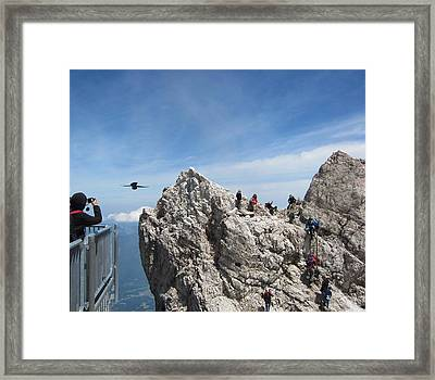 Framed Print featuring the photograph As The Crow Flies 1 by Pema Hou