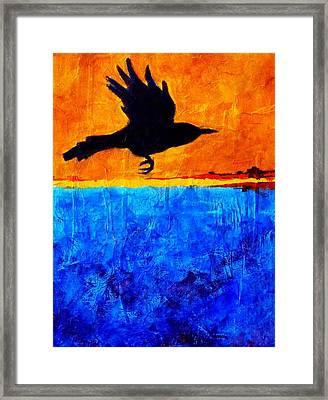 As The Crow Flies Framed Print by Nancy Merkle