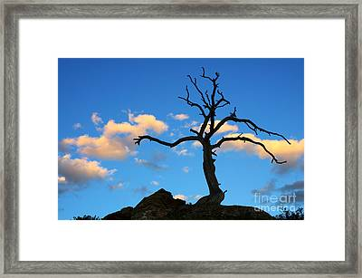 As The Day Ends Framed Print by Bob Christopher