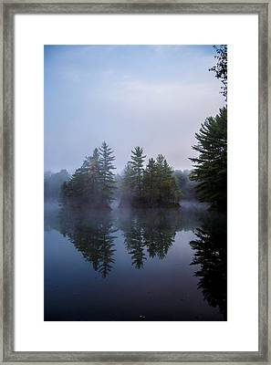 As The Fog Rolls In Framed Print by Anthony Thomas