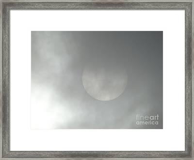 As The Fog Rolls In  Framed Print