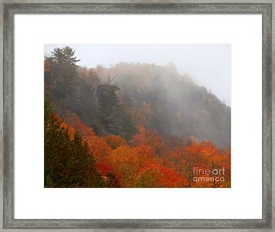 As The Fog Rolls In Framed Print by Steven Valkenberg