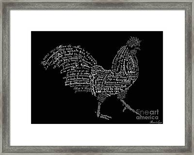 As The French Say... Coq Framed Print by Marion De Lauzun