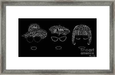 As The French Say... Dames Framed Print