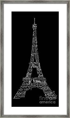 As The French Say... Eiffel Tower Framed Print
