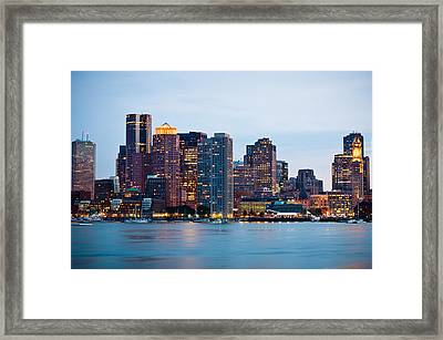 As The Lights Go On Framed Print by Lee Costa