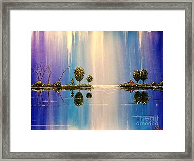 As The Moonlight Dripped Framed Print