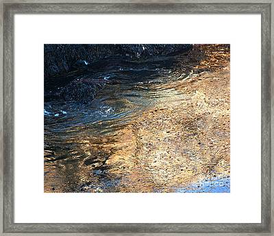 As The Ocean Wave Swirled It Looked Like Gold Framed Print by Artist and Photographer Laura Wrede