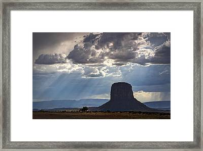 As The Storm Moves In Framed Print