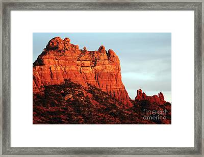 As The Sun Sets In Sedona Framed Print by John Rizzuto