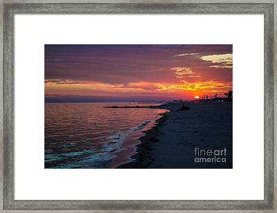 As The Sun Sets Framed Print