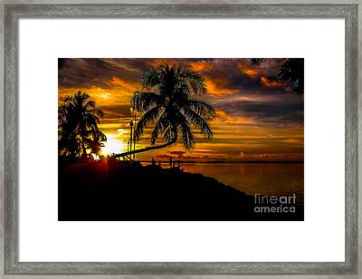 As The Sunsets Framed Print by Rene Triay Photography